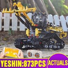 Fonction moteur RC chargeur Compatible avec Lepining 42094 motorisé chargeuse sur chenilles ensemble RC Technic jouets enfants blocs de construction