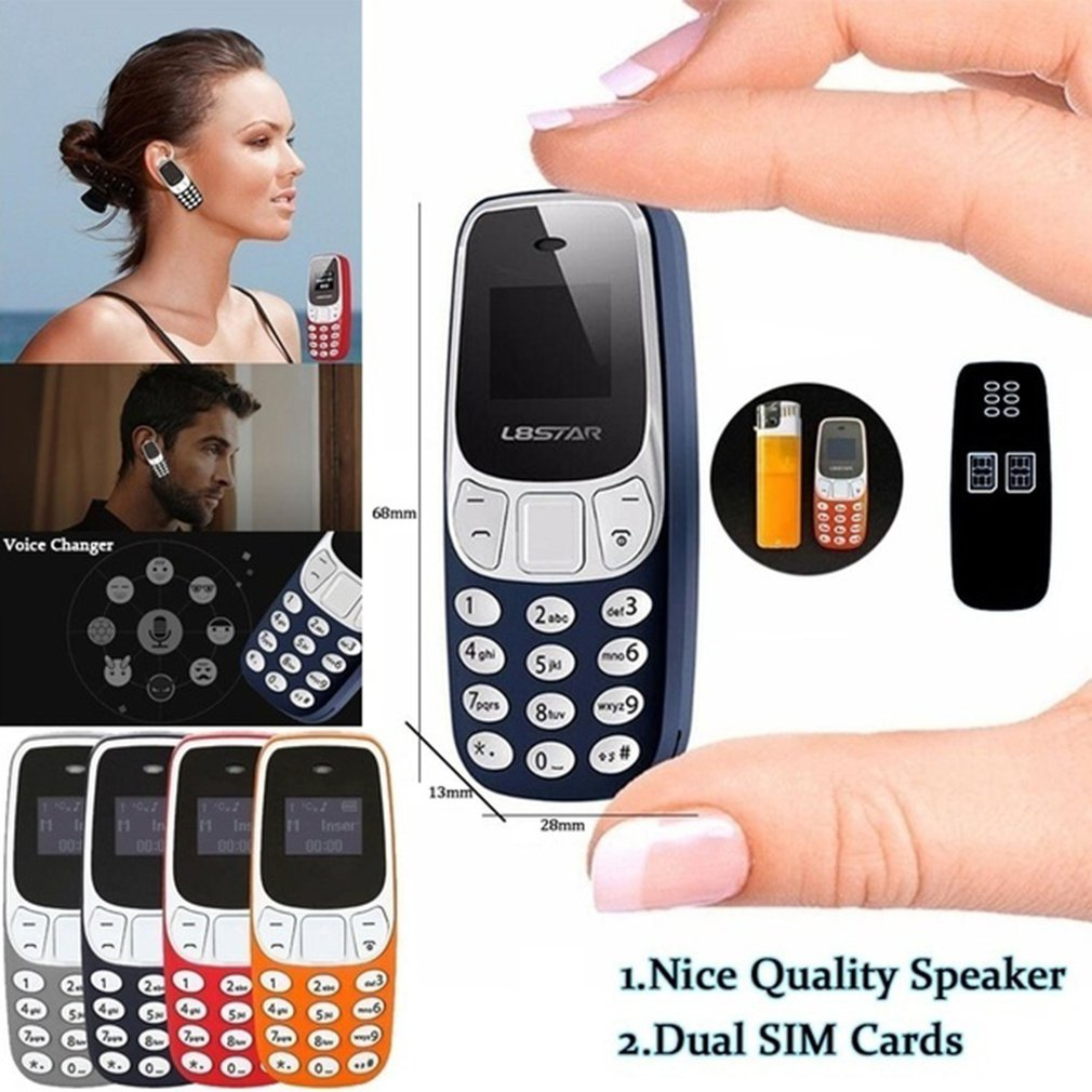 Mini teléfono móvil pequeño portátil, GSM, Dual Sim, BM70, varios idiomas