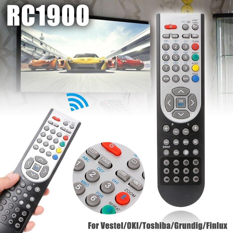 RC1900 TV Control remoto Universal de reemplazo LCD TV mandos a distancia para Vestel/OKI/Toshiba/Grundig/Finlux