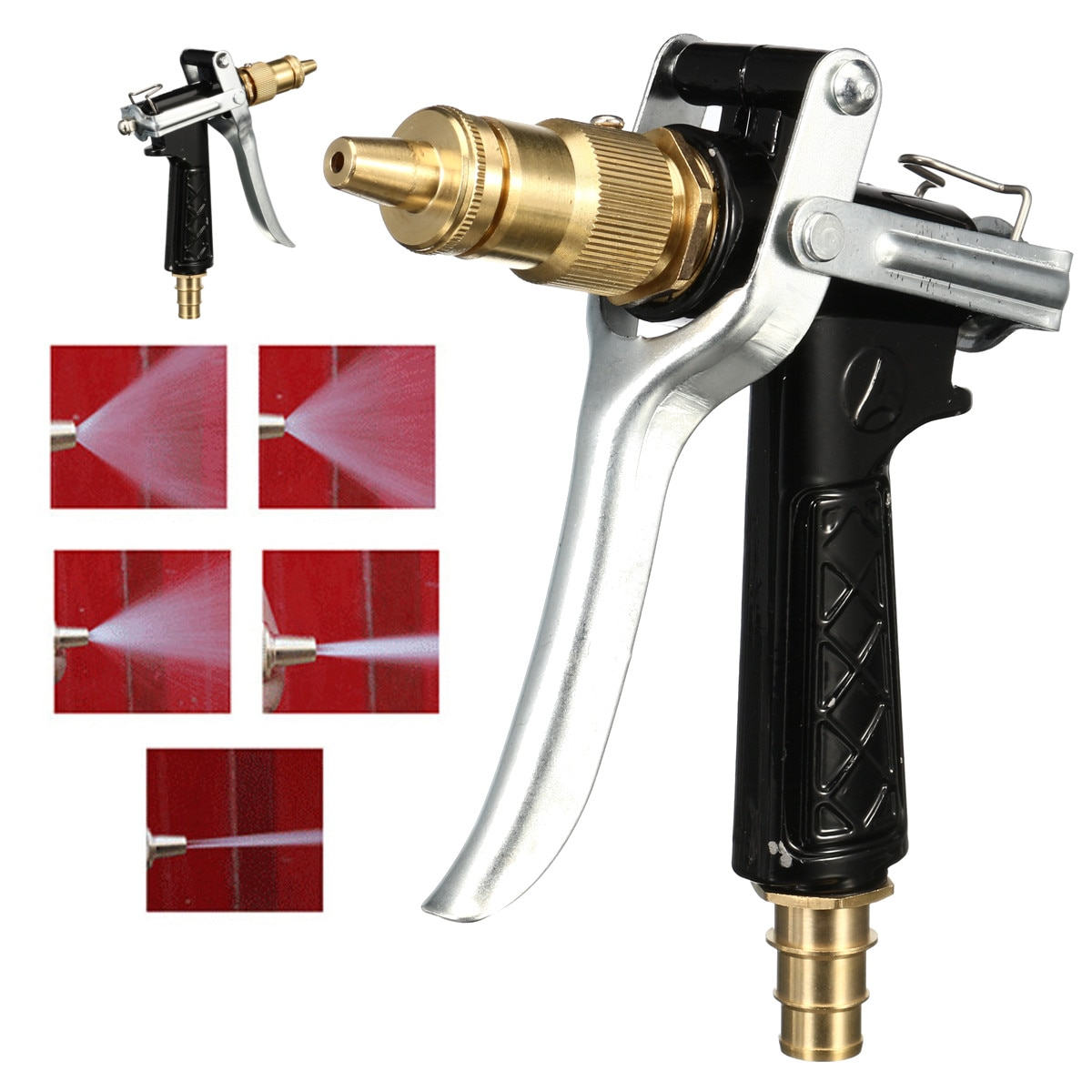 Alta presión para el hogar del coche limpiador de lavado de jardín pistola de agua rociadora boquilla de manguera pistolas de lavado de coche