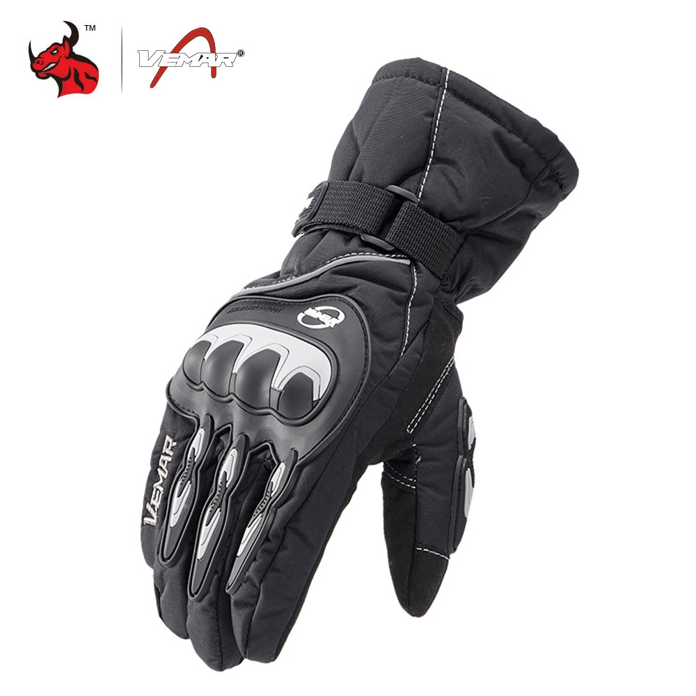 VEMAR Winter Motorcycle Gloves 100% Waterproof Touch Screen Warm Moto Glove Men Protective Moto Luvas Guantes Motocross Gloves enlarge