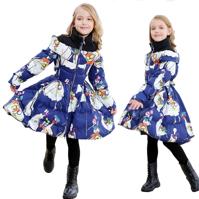 Russian Winter Jackets 2020 New Kids Down Jacket for girl Warm Down Parka Children Long Jacket Girls Clothes 10 12 year