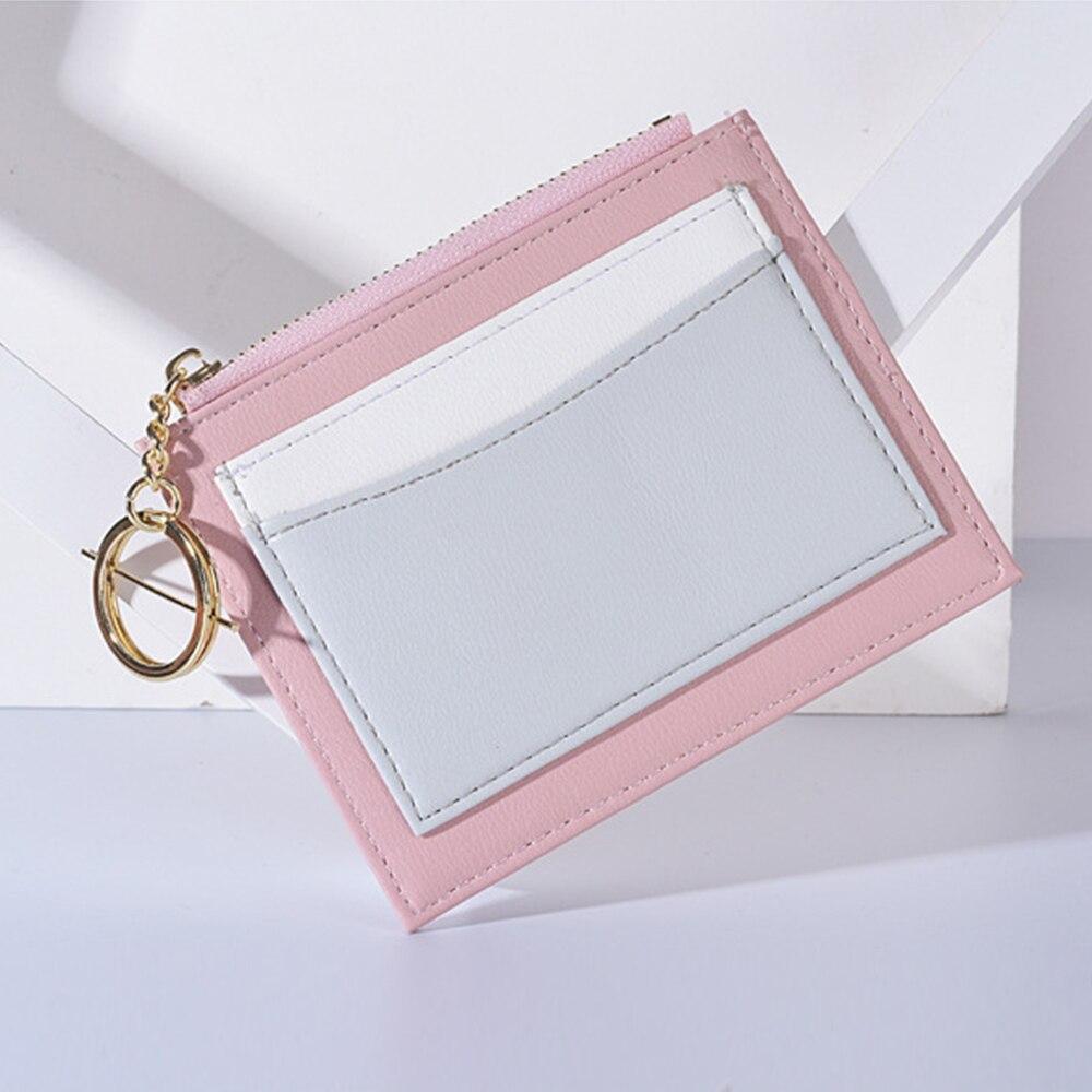 S.IKRR тонкий женский маленький кошелек и кошелек для девочек, короткие кожаные кредитницы, кошельки на молнии, женские кошельки для монет, Лос...
