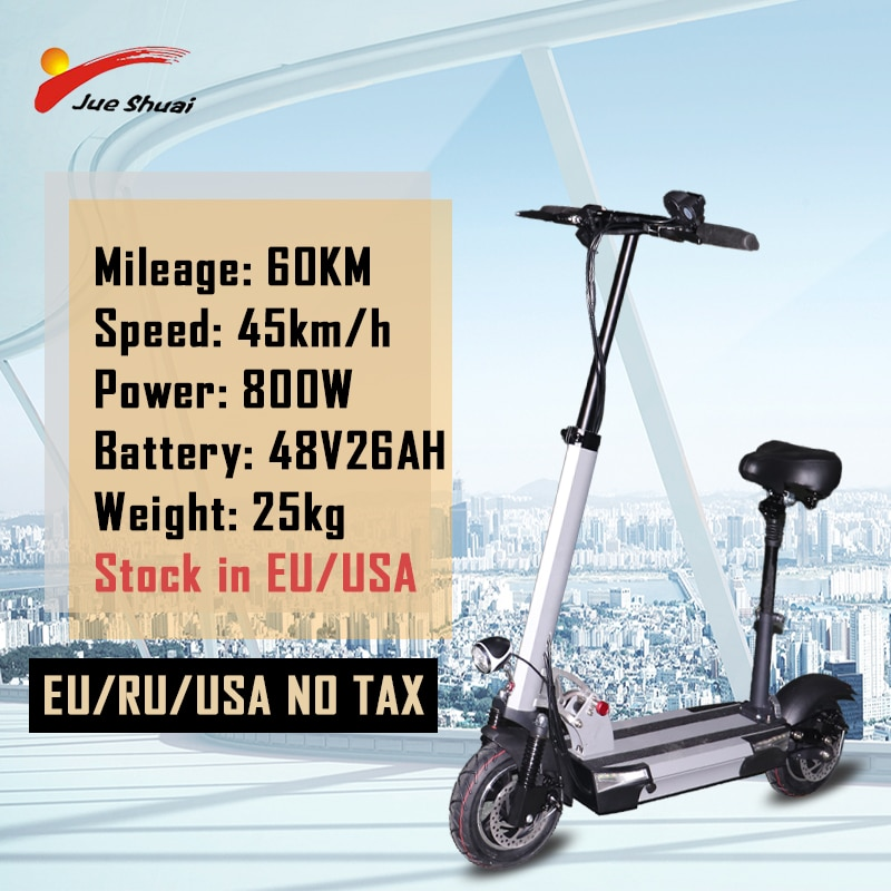 Patinete eléctrico plegable para adulto, Scooter de 48V y 800W con batería...