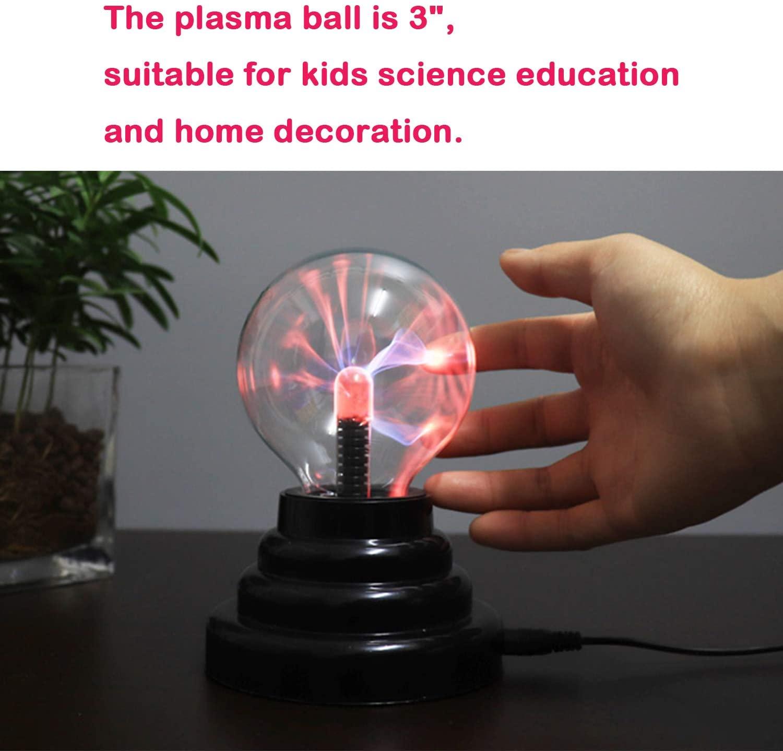 Plasma Bal Glas Touch Gevoelige Usb/Batterij Aangedreven Nieuwigheid Wetenschap Thunder Lightning Plasma Lamp Met Geluid enlarge