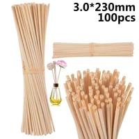 100pcs natural rattan reed sticks aromatherapy set replaces wood rattan smoke free aroma expanding stick essential oil