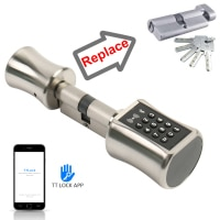 Smart Cylinder Lock TT Lock APP Bluetooth 13.56mhz IC Card Digital Unlock Easy Replace Original Cylinder Lock Become Smart
