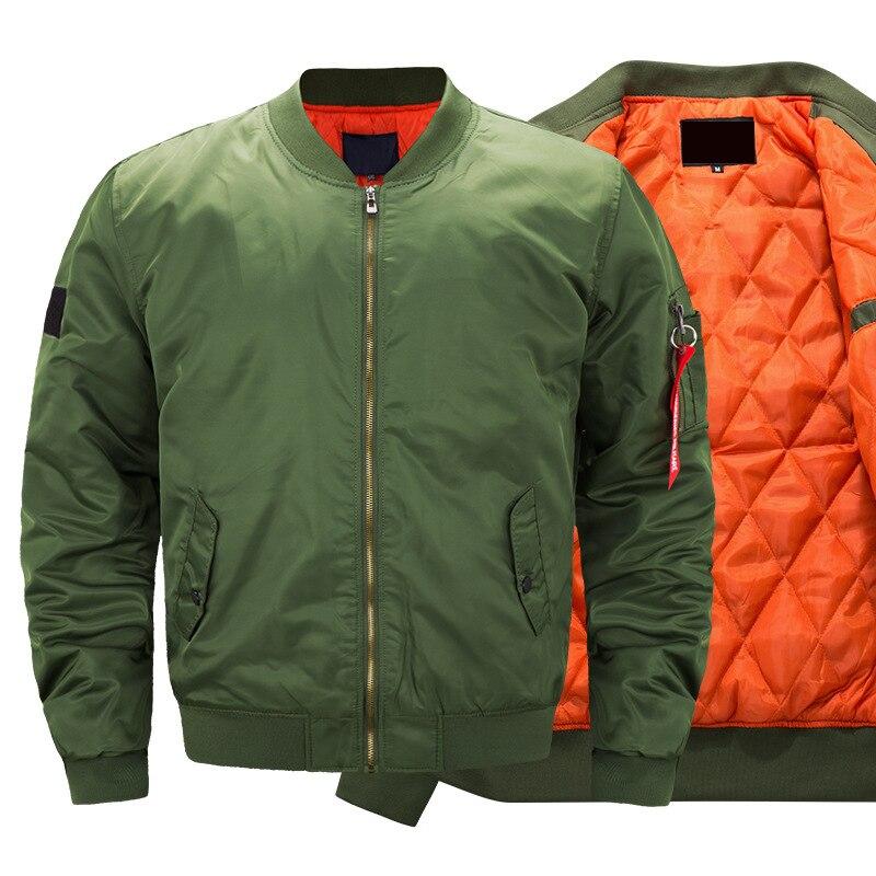 Новинка Осень-зима 2021, Мужская военная куртка, Мужская Повседневная однотонная куртка на молнии, Новая зеленая облегающая мужская куртка