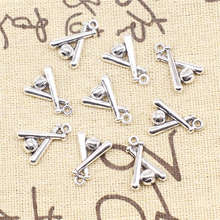 Golf Charms Supplies For Jewelry Making Kit Antique Silver Color 20pcs 14x19mm