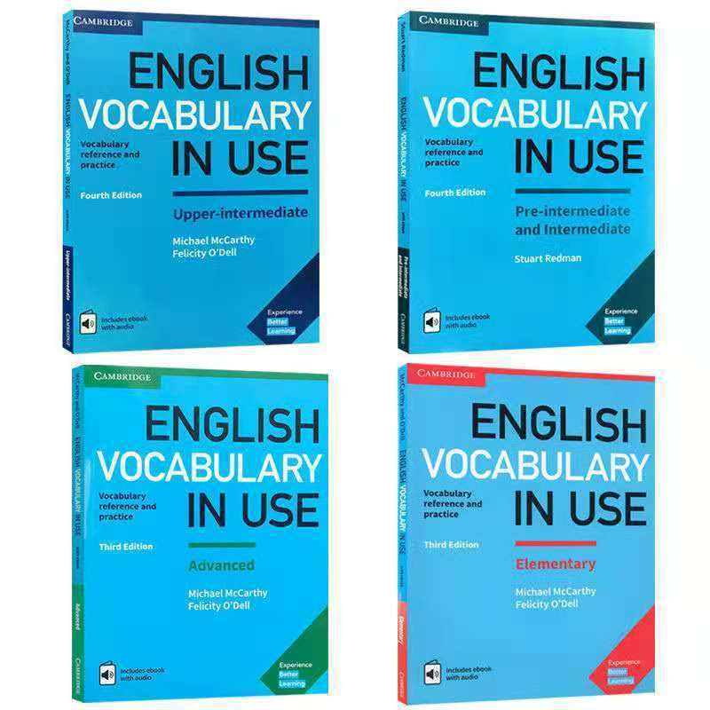 4 Books/SET New Cambridge English Vocabulary in Use Reference and Practice Textbook Workbook