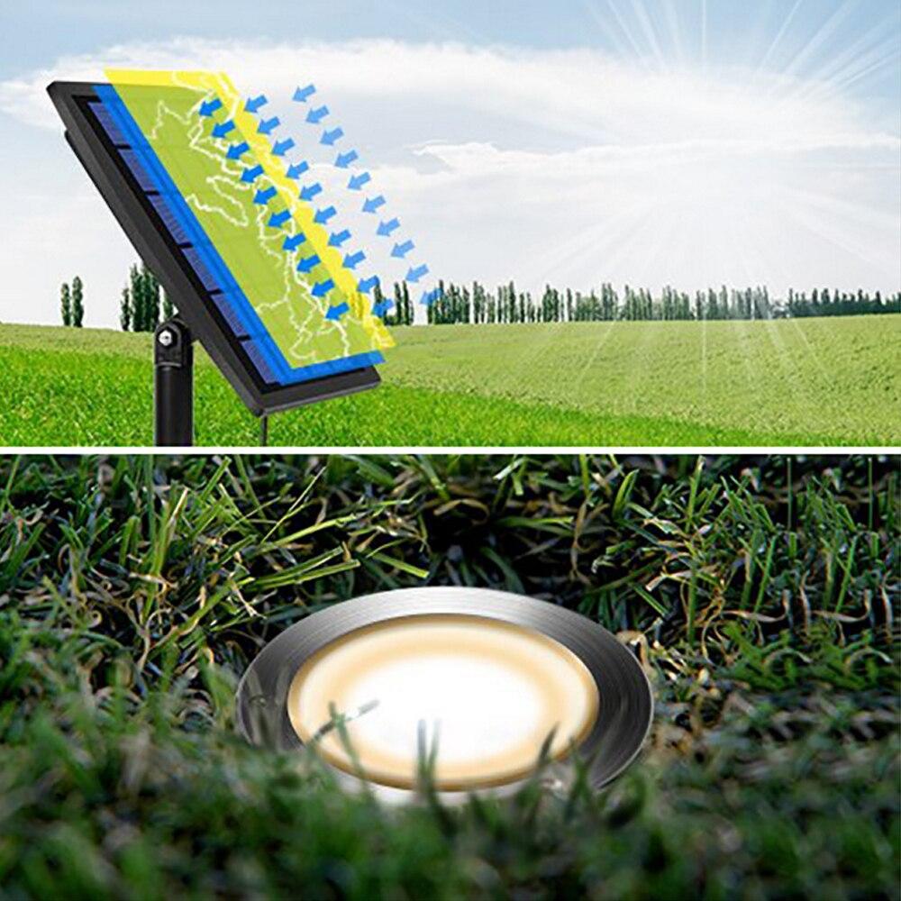 Luces subterraneas impermeables para terraza y jardin, lamparas de suelo con energia Solar, 32mm, IP67, 6/8 Uds. enlarge