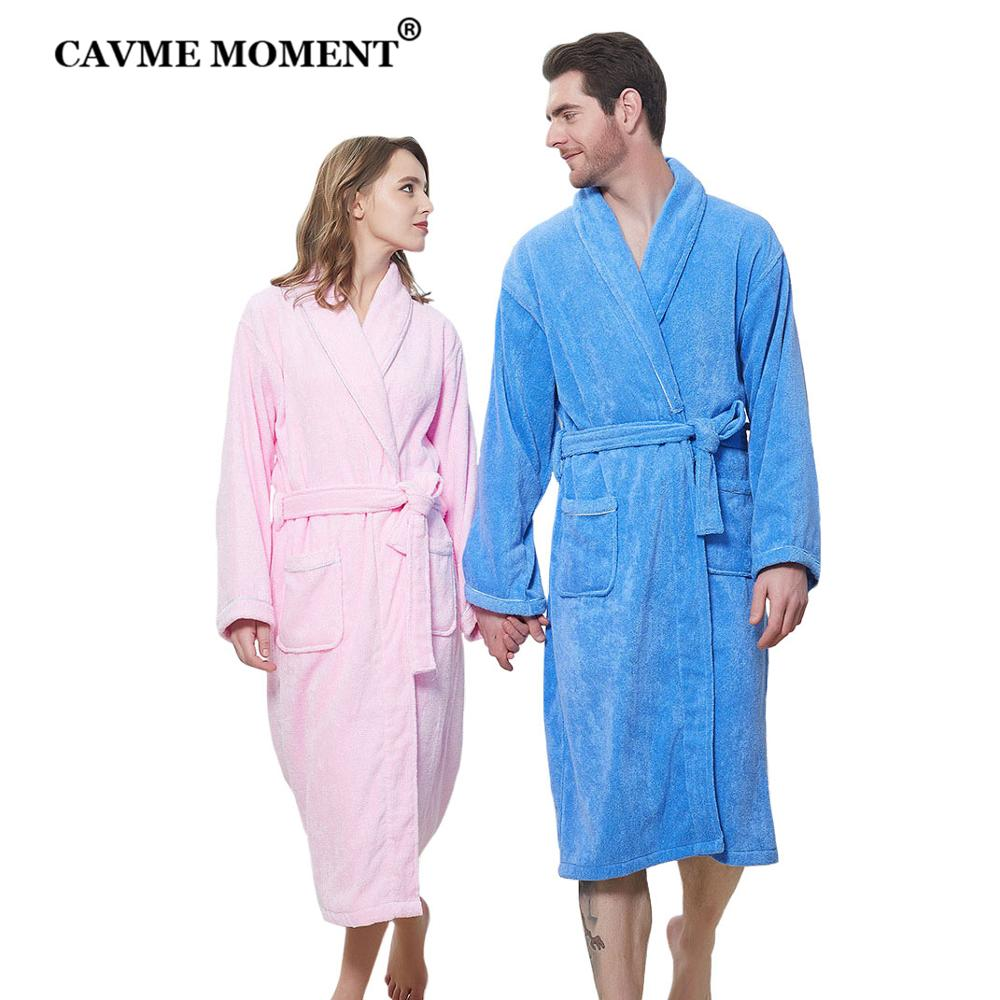 CAVME 2021 Cotton CUSTOM LOGO Bride Bathrobes Unisex Hotel Terry Kimono Bridesmaid Robe Nightgown Solid Color Spa Towel Dress