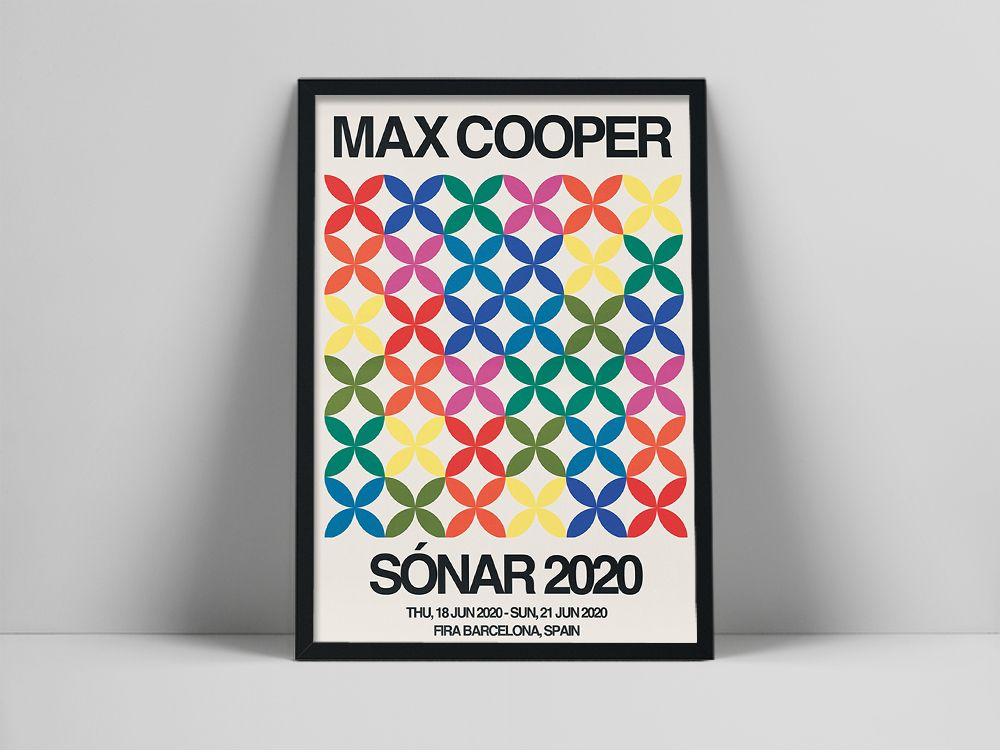 Max Cooper-póster de música Vintage de Barcelona, España, pintura en lienzo, arte...