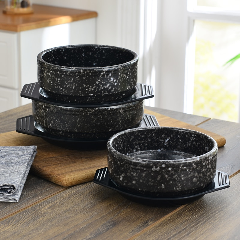Panela de Pedra Panela de Barro Cerâmica Bibimbap Caçarola Cozinha Coreana Pequena Sopa Arroz Macarrão Panela Cozinhar