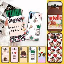 Смешные озноб таблетки шоколада Nutella чехол для телефона оболочка для Samsung Note 7 8 9 10 Lite Plus Galaxy J7 J8 J6 Plus 2018 Prime