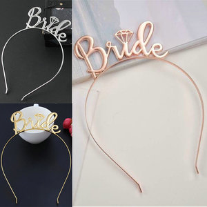 Creative Bride To Be Bridesmaid Tiara Crown Headband Hen Party Wedding Engagement Hair Accessories Birthday Gift