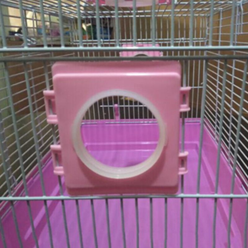 Pequeños accesorios de jaula para hámster, deflector de boca de tubo externo, jaulas de juguete para hámster, puerto de túnel, placa exterior