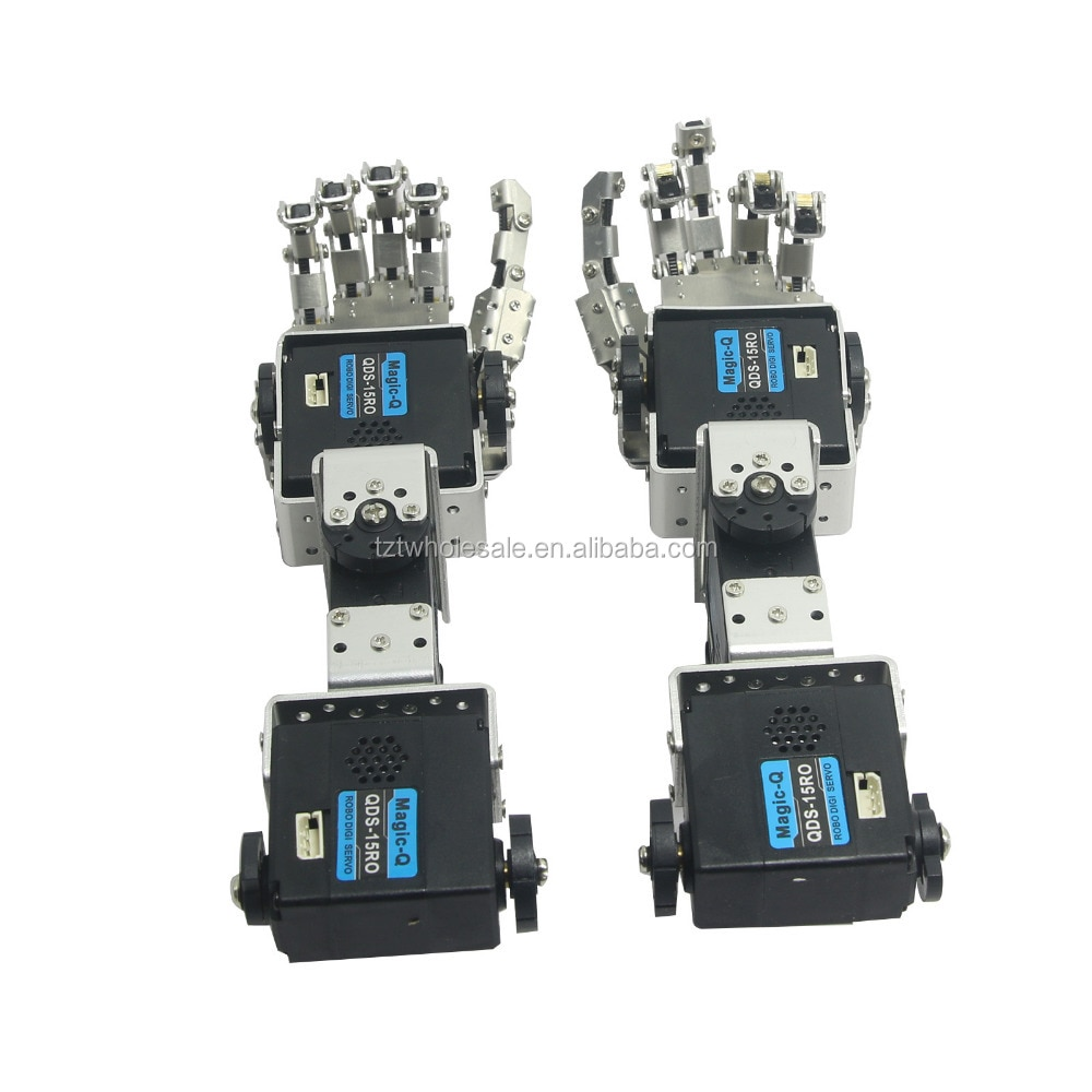 Humanoid Robot Left Hand Right Hand Arm with Fingers Manipulator & Servo for DIY Robotics