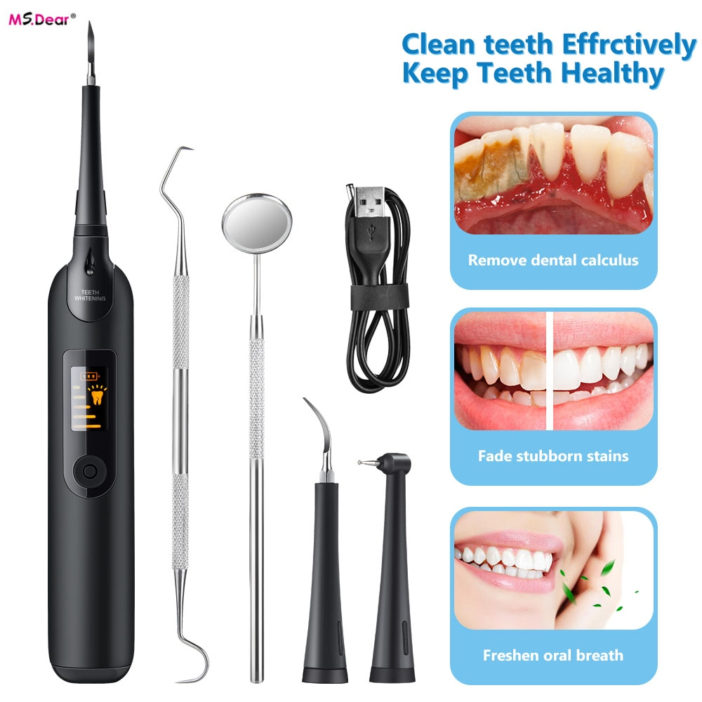 Ultrasonic Calculus Remover Electric Dental Scaler Tooth Cleaner  Smoke Stains Tartar Plaque Teeth Whitening Scaling Tools ultrasonic calculus remover electric portable dental scaler ultrasonic tooth cleaner tartar plaque teeth whitening scaling tools