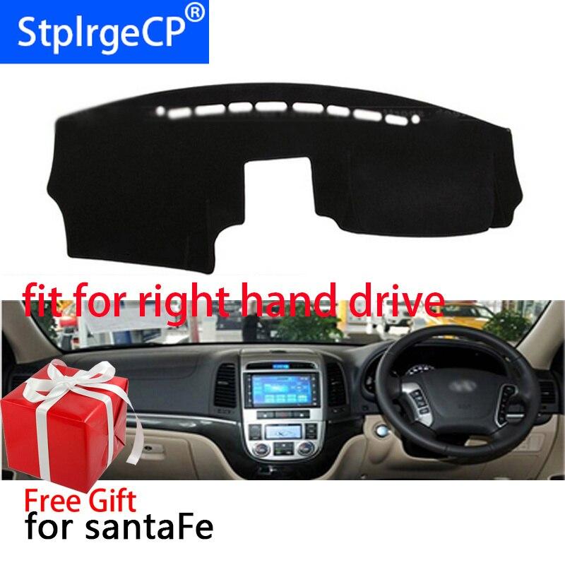 Estera de la cubierta del salpicadero del coche para Hyundai Santa Fe 2007-2012 de mano derecha accesorios