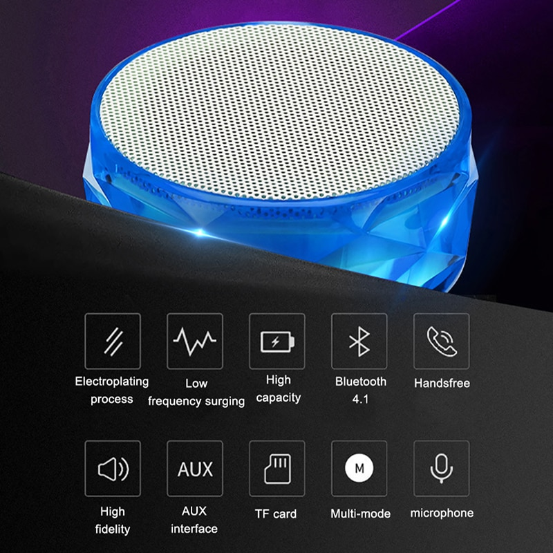 LED Mini Bluetooth Speaker Wireless Loudspeaker TF Card USB Subwoofer Portable Music Sound Column Home Outdoor Car Speaker 2021 enlarge