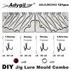 Adygril – moule de leurre de pêche Combo 45g 60g 80g 121g 4 cavités 100 pièces