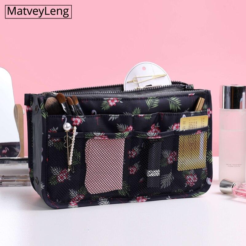 Bolsa de cosméticos para mujer, bolsa de almacenamiento portátil, kit de artículos de aseo, organizador de viaje, bolsa de maquillaje