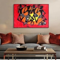 black abstract african american portrait painting sunshine posters and prints canvas art cuadros wall picture for living room