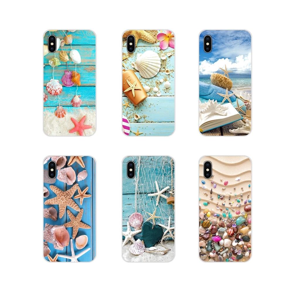 Zubehör Phone Cases Covers Blau Holz Muscheln Sea Star Für Xiao mi mi 4 mi 5 mi 5S mi 6 mi A1 A2 A3 5X 6X 8 CC 9 T Lite SE Pro