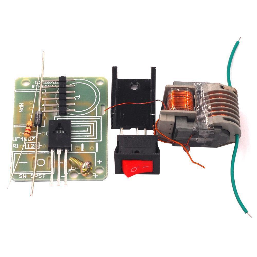 Mechero de encendido de arco de generador de impulso de 3,7 V de frecuencia de 15kV, módulo de bobina de transformador de aumento, Kit DIY, inversor de alto voltaje