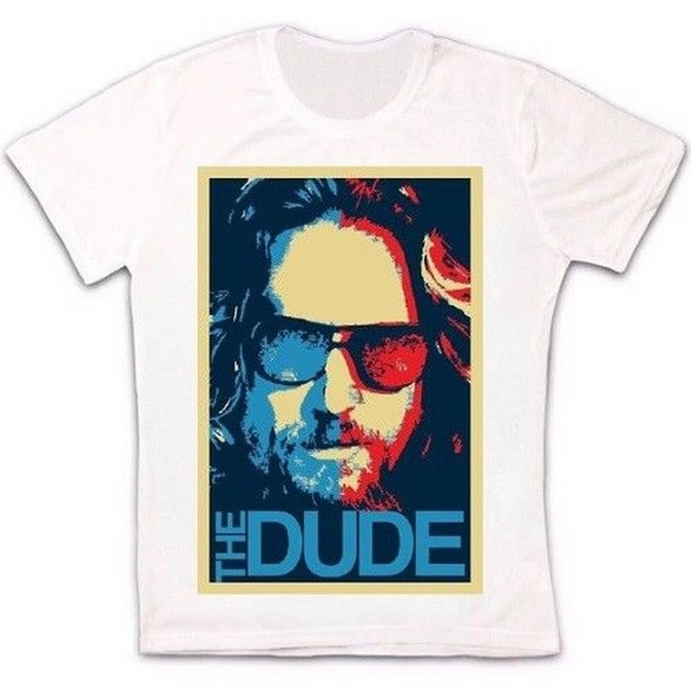 The Dude Big Lebowski Poster Cool Retro Vintage Hipster Unisex T Shirt 1628 Oversized Tee Shirt