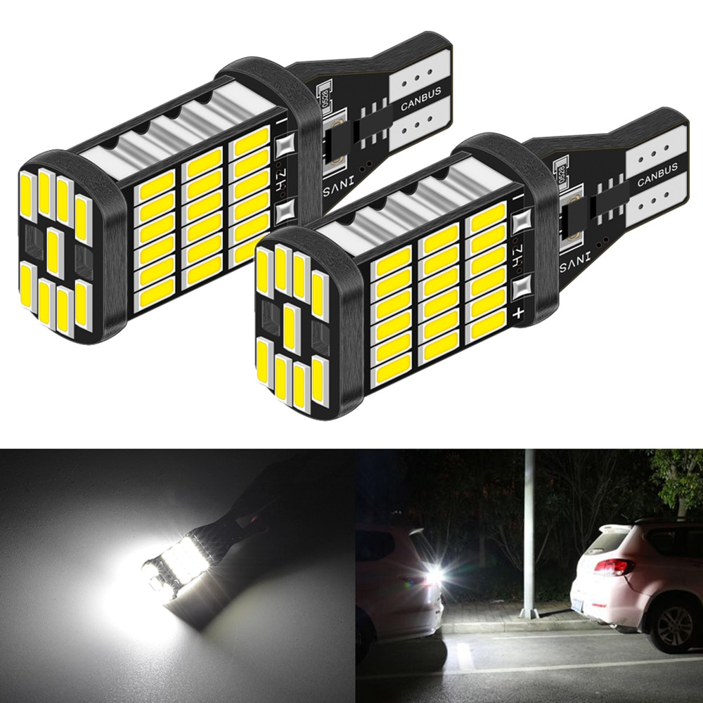2 uds., 921 912 T15 W16W, bombillas LED, luz de respaldo de marcha atrás para Hyundai Accent Santa Fe ix35 ix20 Tucson Elantra Canbus sin Error