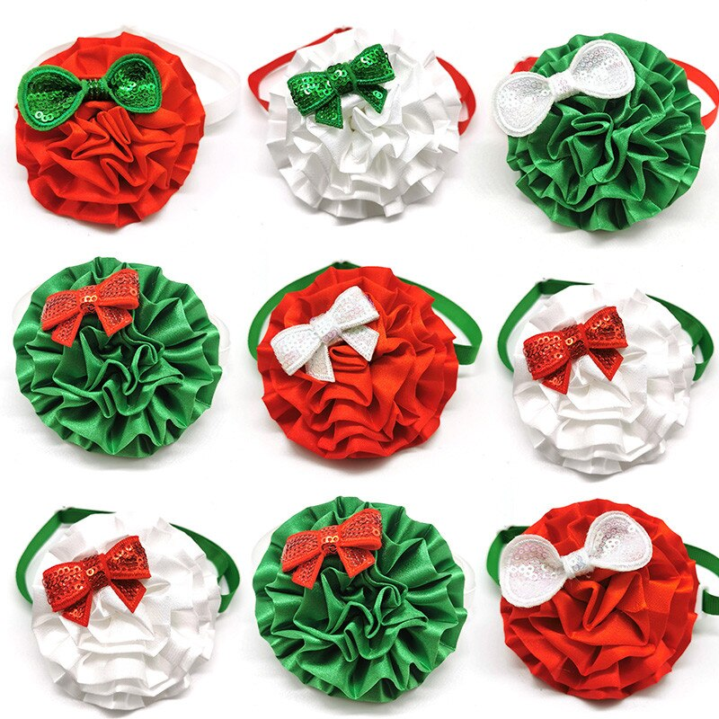 50-100pcs-christmas-design-middle-dog-bow-ties-flower-collar-dog-bow-tie-for-holiday-party-dogs-grooming-products-pet-supplies