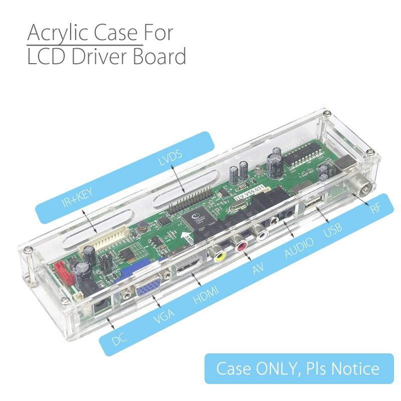 Carcasa transparente Universal para panel de Control LCD caja de almacenamiento de acrílico para V29 V56 V53 SKR 8503 controlador de señal analógica