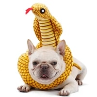 dog chew toy simulation snake dog bite toy funny neck collar pet sound toy squeaky training toy for pet