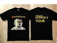 Vintage rzadko!! Radiohead pablo miód tour t shirt rozmiar top T Shirt O-Neck moda Casual wysoki wydruk dobrej jakości T Shirt