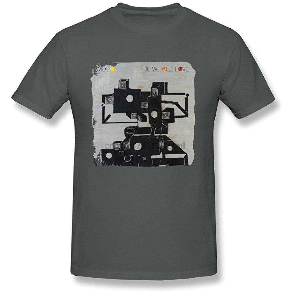 Caliente para hombre divertido casual camiseta DONVAN hombre todo el amor Wilco T shirt L DeepHeather nueva tendencia de moda