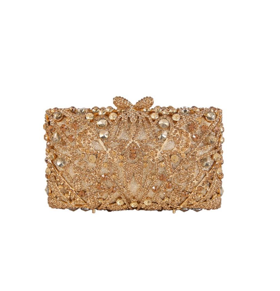 حقيبة يد نسائية من الكريستال المخرم على شكل زهرة ، حقيبة يد صغيرة للسهرة ، لحفلات الزفاف والعشاء والزهور ، محفظة