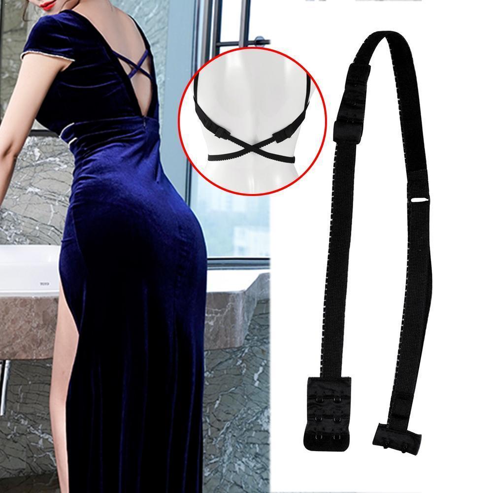 Mujeres bajo sujetador trasero correas convertidor ajustable moda cinturón vestidos completamente Sexy para espalda baja sin espalda sujetador extensores sujetador con gancho