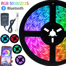 Led Strips Light Luces Led RGB5050 Waterproof Color Changing Flexible Ribbon Tape Diode Desktop chri
