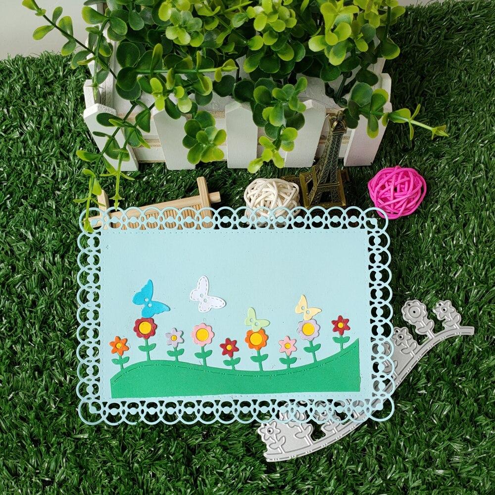 Металлический высекальный цветочный фон для фотоальбома DIY Украшение для альбома process Die-cut изготовление бумажных карточек новый шаблон
