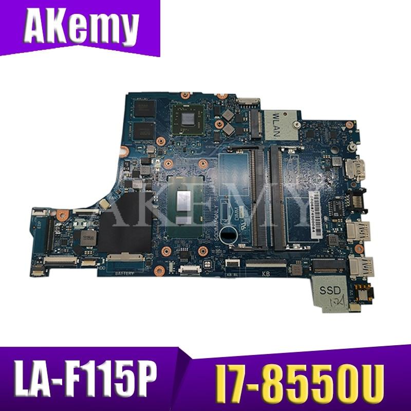 LA-F115P Laptop motherboard For DELL Inspiron 15-5570 17-5770 original mainboard I7-8550U AMD 530 4GB