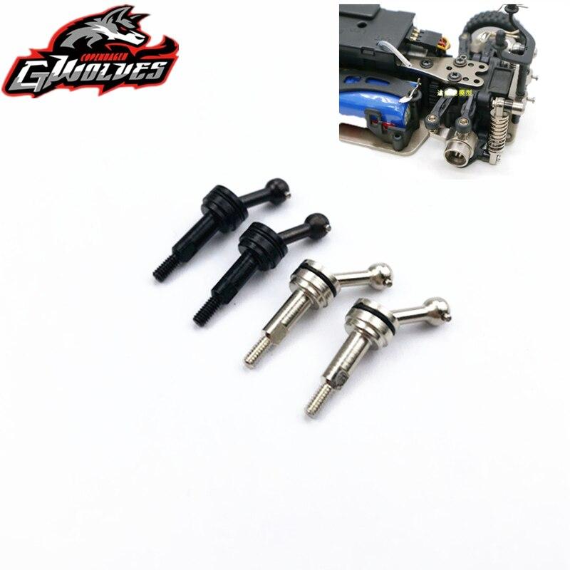1 par de transmisión de eje de unión universal CVD delantero o trasero de metal para 1/28 wltoys K969 K979 K989 K999 P929 P939 RC piezas de mejora
