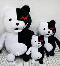 Jouet en peluche 35cm, pour accompagner le dessin animé japonais Super 2, ours en peluche doux, Monokuma noir et blanc, poupées, cadeau de noël