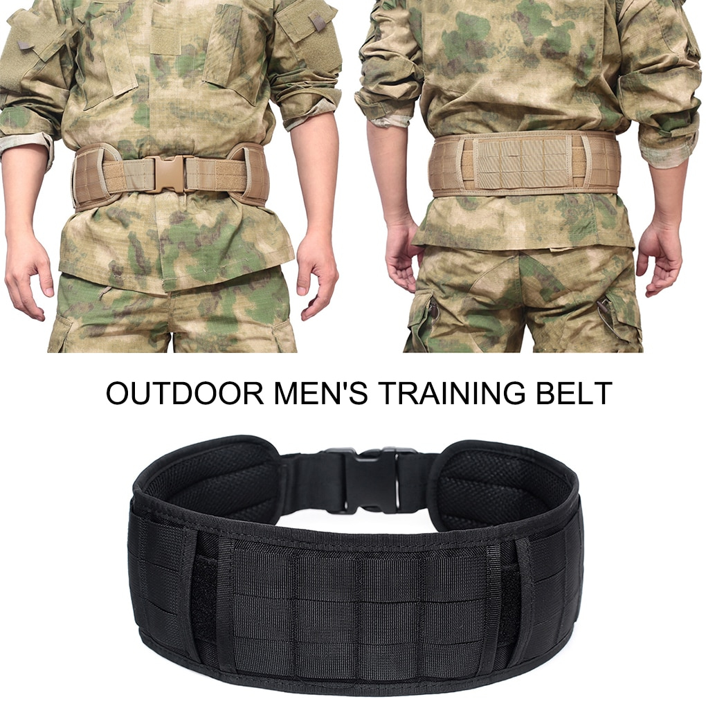 Military Wide Belt Molle Tactical Outdoor Hunting Camouflage Multi-purpose Equipment Waist Girdle Army Waistband