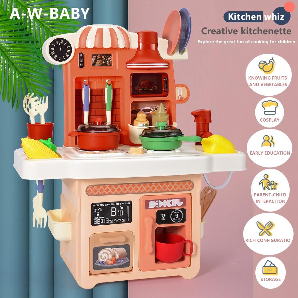 27 шт., Детский набор для приготовления пищи с распылителем воды