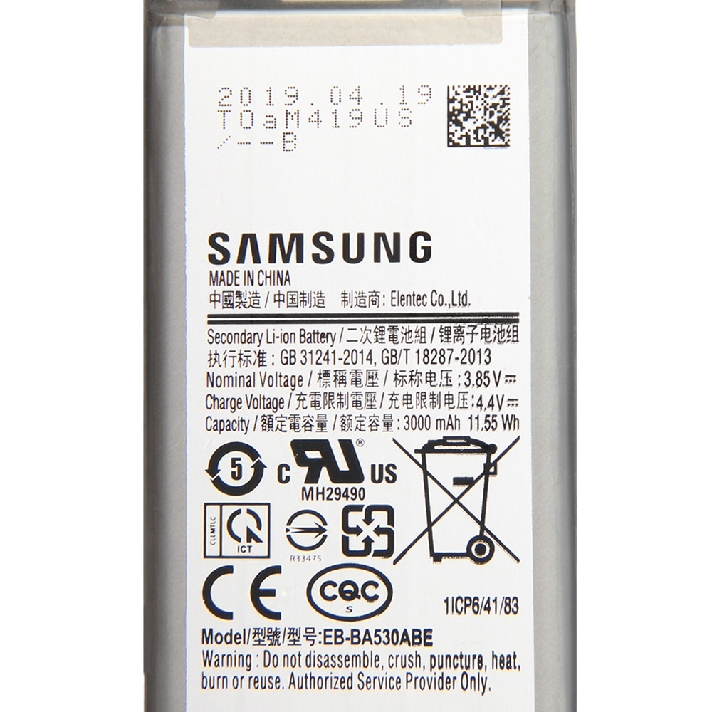 Original Samsung Battery EB-BA530ABE For Samsung For Samsung Galaxy A01Genuine replacement battery 3000mAh enlarge