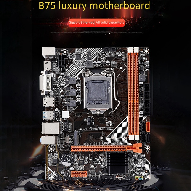 B75 Motherboard M-ATX Computer Motherboard M.2 LGA1155 Support 2*8G DDR3 Dual Channel for  i3 i5 i7 CPU