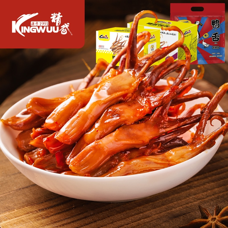 Jingwu duck tongue 240g Wenzhou sauce flavor sweet and spicy specialty snack snack snack food