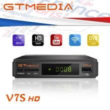 Meilleur 1080P DVB-S2 GTMEDIA V7S HD CCcam serveur espagne italie récepteur de télévision par Satellite PK GTmedia V8 Nova Freesat V9 Super + USB WIFI